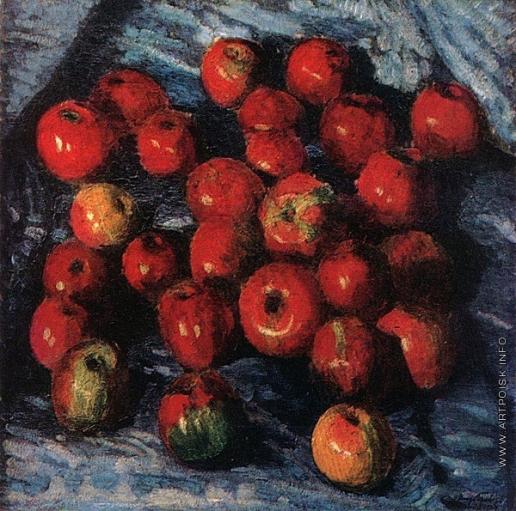 Грабарь И. Э. Красные яблоки на синей скатерти