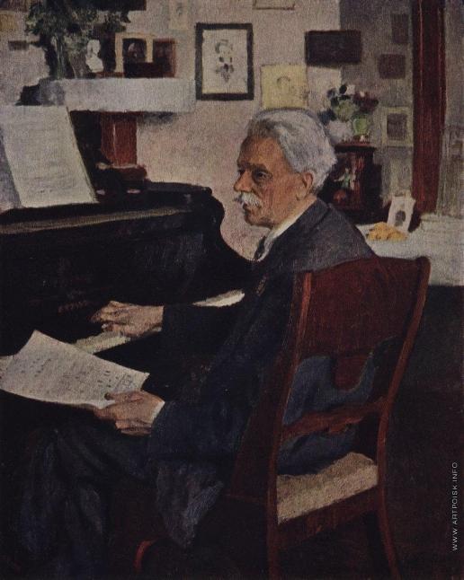 Грабарь И. Э. Портрет народного артиста А.Б. Гольденвейзера