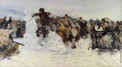 Суриков В. И. Взятие снежного городка