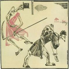 Дейнека А. А. Иллюстрация к басне И.А.Крылова «Крестьянин и смерть»