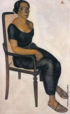 Дейнека А. А. Девушка на стуле