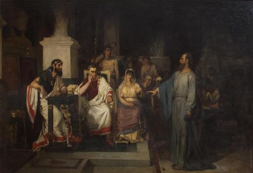Суриков В. И. Апостол Павел объясняет догматы веры в присутствии царя Агриппы, сестры его Береники и проконсула Феста