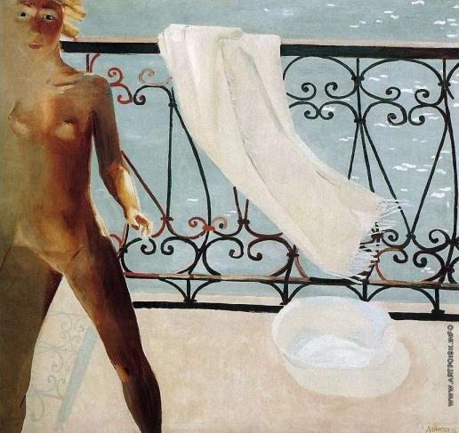 Дейнека А. А. На балконе