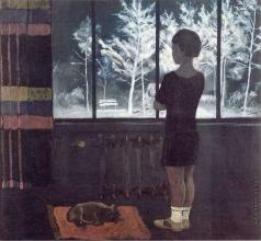 Дейнека А. А. Девочка у окна. Зима