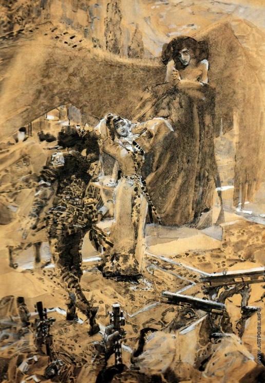 Врубель М. А. Пляска Тамары. Иллюстрация к поэме Лермонтова «Демон»