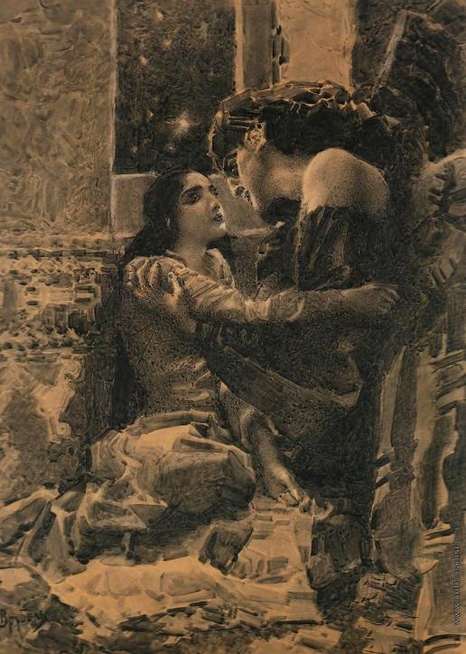 Врубель М. А. Тамара и Демон. Иллюстрация к поэме Лермонтова «Демон»