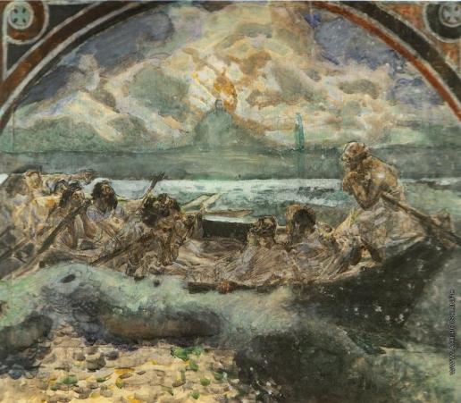 Врубель М. А. Хождение по водам. Эскиз стенной росписи