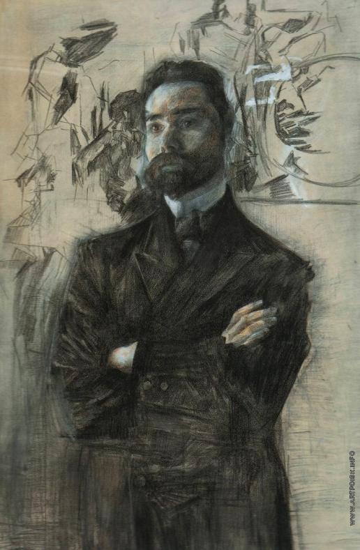 Врубель М. А. Портрет поэта Брюсова