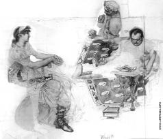 Врубель М. А. Пирующие римляне
