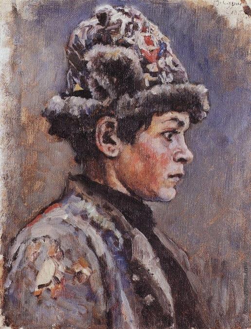Суриков В. И. Задумавшийся подросток.  Этюд для картины Боярыня Морозова