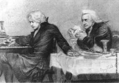 Врубель М. А. Сальери всыпает яд в бокал Моцарта