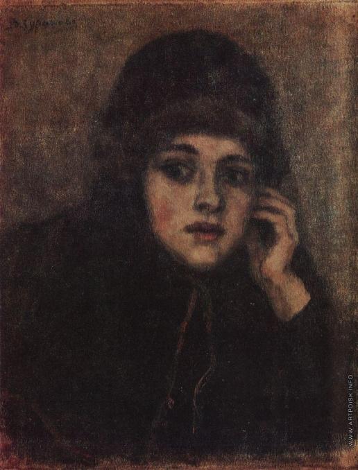 Суриков В. И. Голова монахини. Этюд для картины Боярыня Морозова