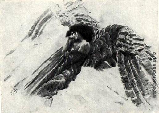 Врубель М. А. Демон летящий