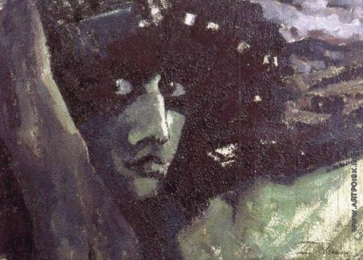 Врубель М. А. Голова Демона на фоне гор
