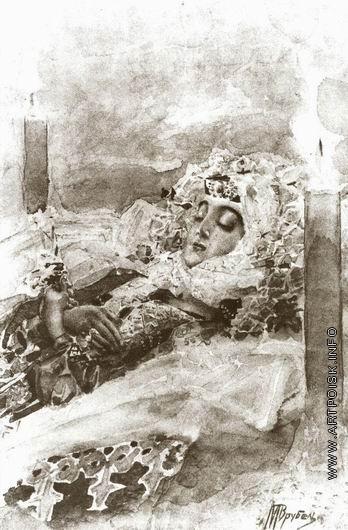 Врубель М. А. Тамара в гробу