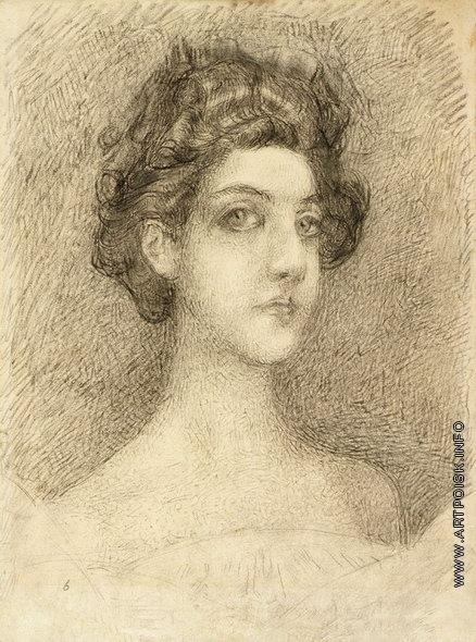 Врубель М. А. Портрет Н.И. Забелы-Врубель