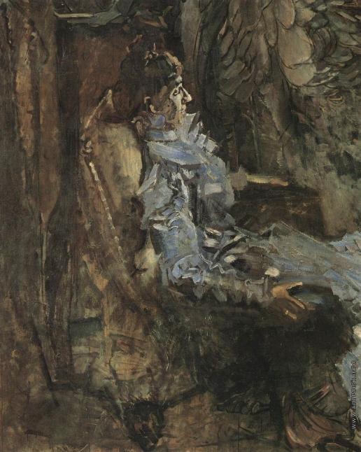 Врубель М. А. Дама в лиловом. Портрет Надежды Ивановны Забелы-Врубель