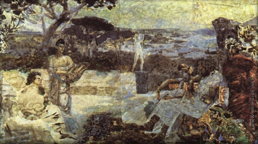 Врубель М. А. Италия. Эскиз театрального занавеса