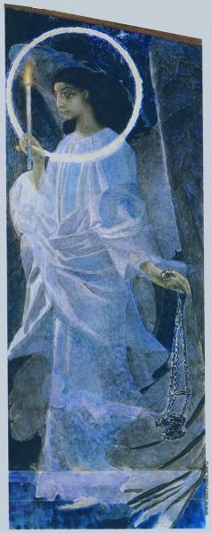 Врубель М. А. Ангел с кадилом и свечой