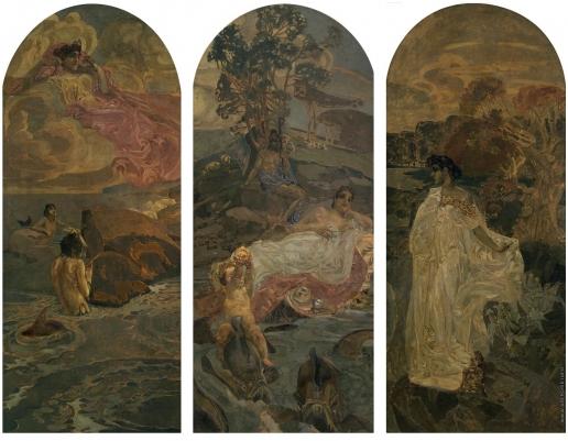 Врубель М. А. Суд Париса. Триптих