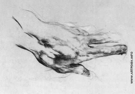 Врубель М. А. Левая рука художника