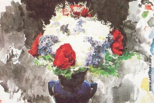 Врубель М. А. Цветы в синей вазе