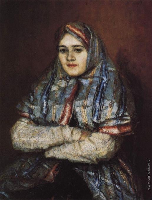 Суриков В. И. Портрет Александры Ивановны Емельяновой, урожденной Шрейдер