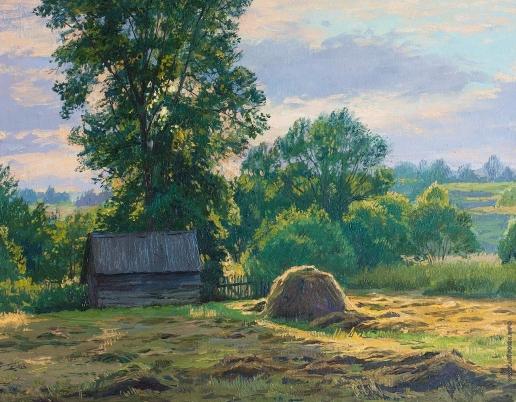 Брусилов С. А. Вечер на окраине деревни