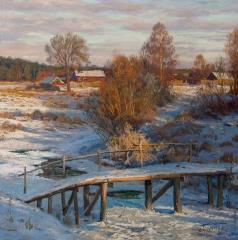 Брусилов С. А. Зимний вечер в Березинках