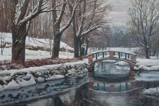 Брусилов С. А. Зимний день в парке