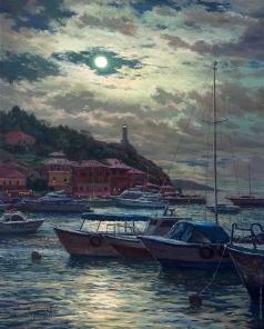 Брусилов С. А. Лунная ночь на море