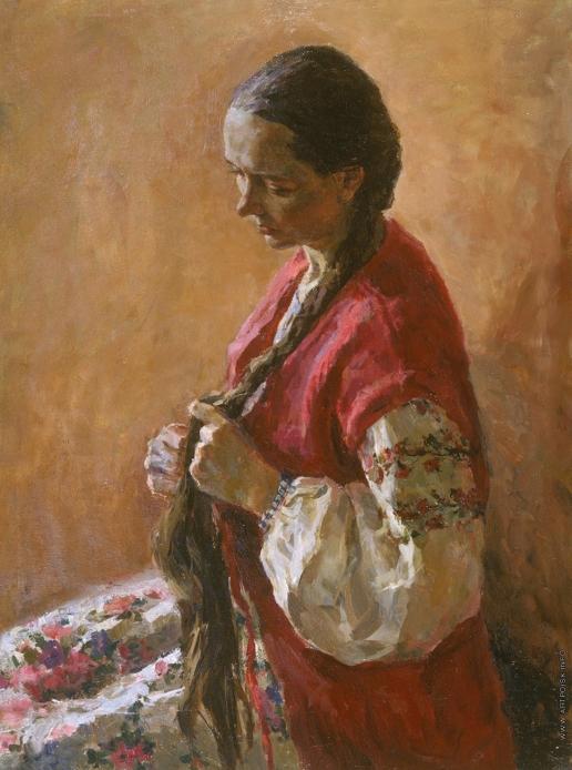 Брусилов С. А. Портрет в русском костюме