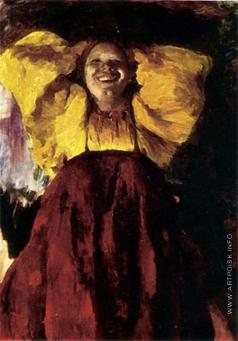 Малявин Ф. А. Баба в желтом