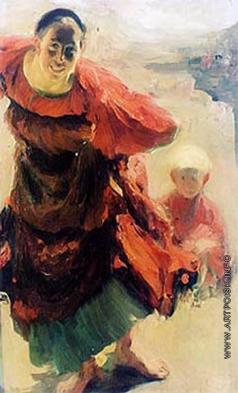 Малявин Ф. А. Баба с ребенком