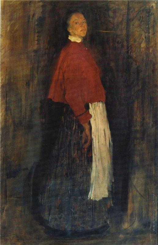 Малявин Ф. А. Крестьянская девушка. Портрет сестры художника П.А. Москалевой