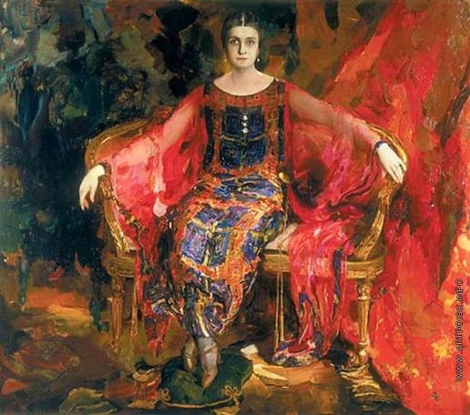 Малявин Ф. А. Портрет балерины Александры Балашовой