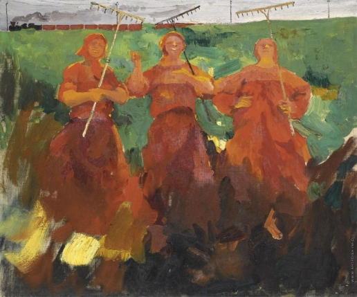 Малявин Ф. А. Три крестьянки с граблями