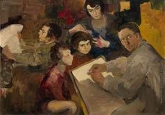 Малявин Ф. А. Автопортрет с семьей