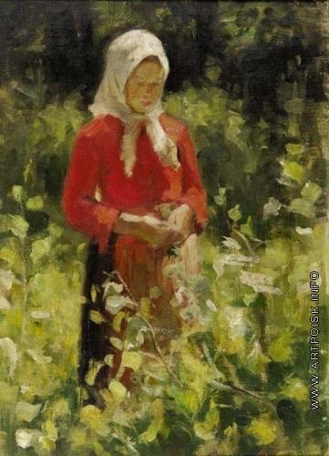 Малявин Ф. А. Девочка в белом платке