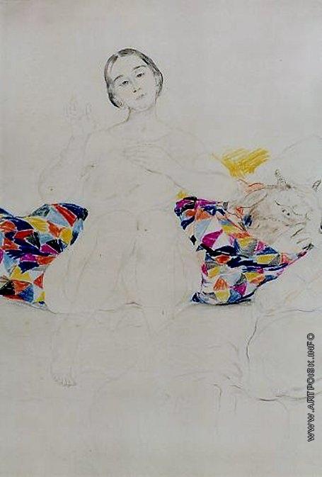 Малявин Ф. А. Женщина с Дьяволом в своей кровати. Лондон