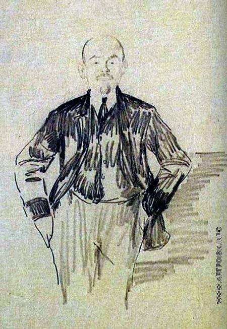 Малявин Ф. А. Ленин (набросок)
