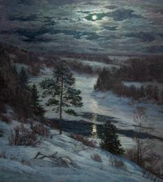 Брусилов С. А. Зимняя ночь на Оке
