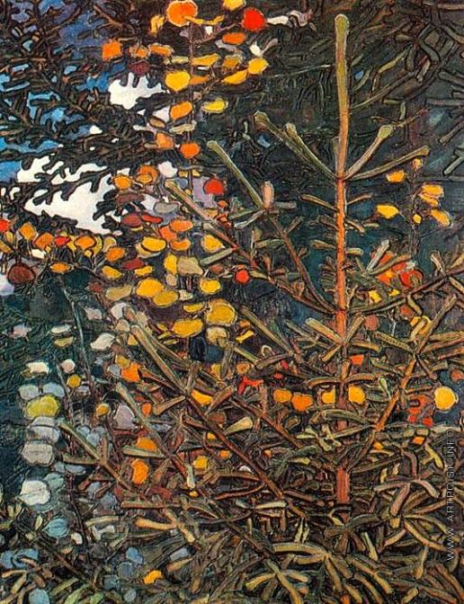 Якунчикова М. В. Осина и елка (панно)