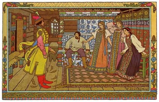 Билибин И. Я. Иллюстрация к сказке «Марья Моревна»