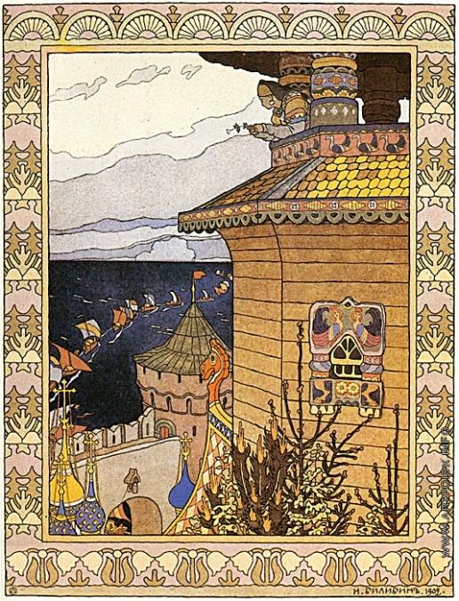 Билибин И. Я. Иллюстрация к сказке «Белая уточка»