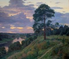 Брусилов С. А. Над рекой